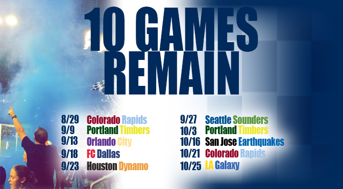 SKC 10 Games Remain